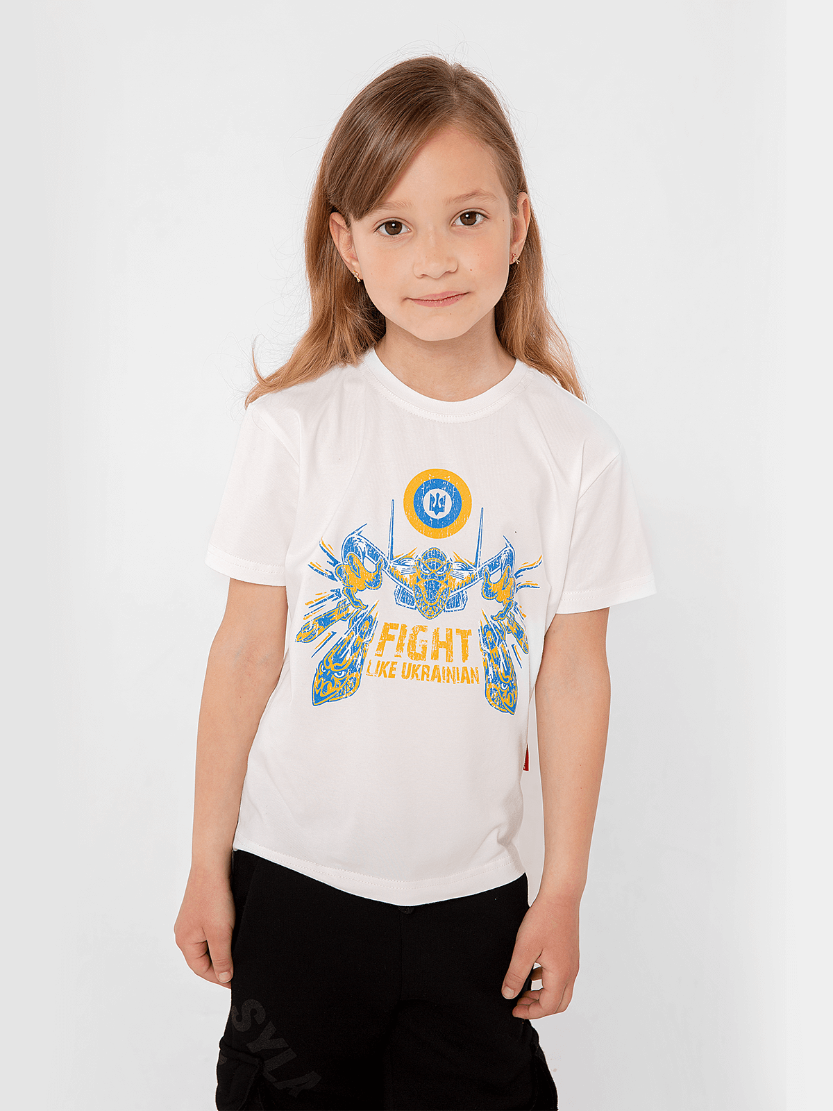 Kids T-Shirt Flu. Color off-white.  The color shades on your screen may differ from the original color.