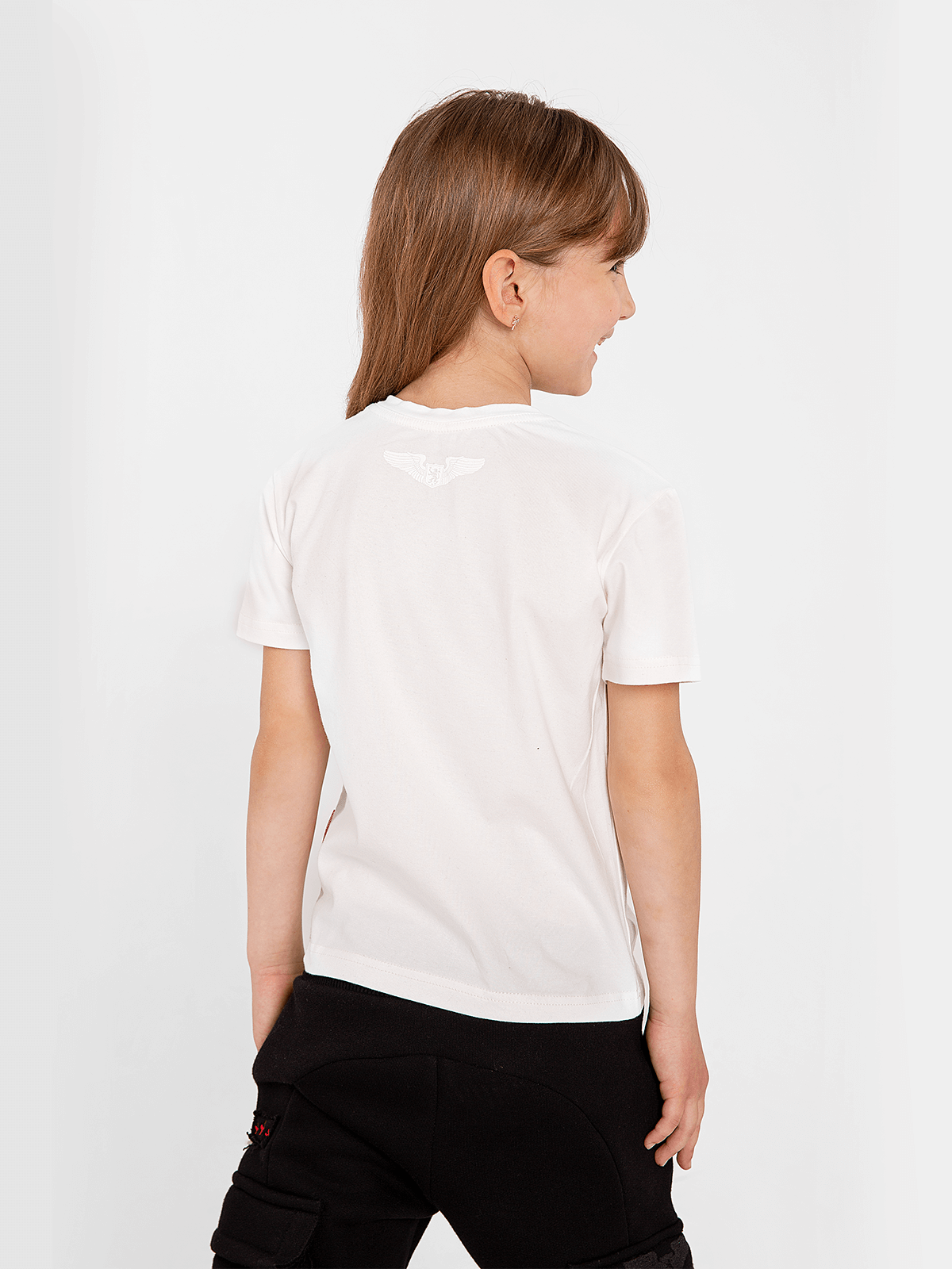 Kids T-Shirt Flu. Color off-white. .