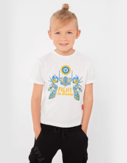 Kids T-Shirt Flu. Color off-white. Футболка унісекс.
