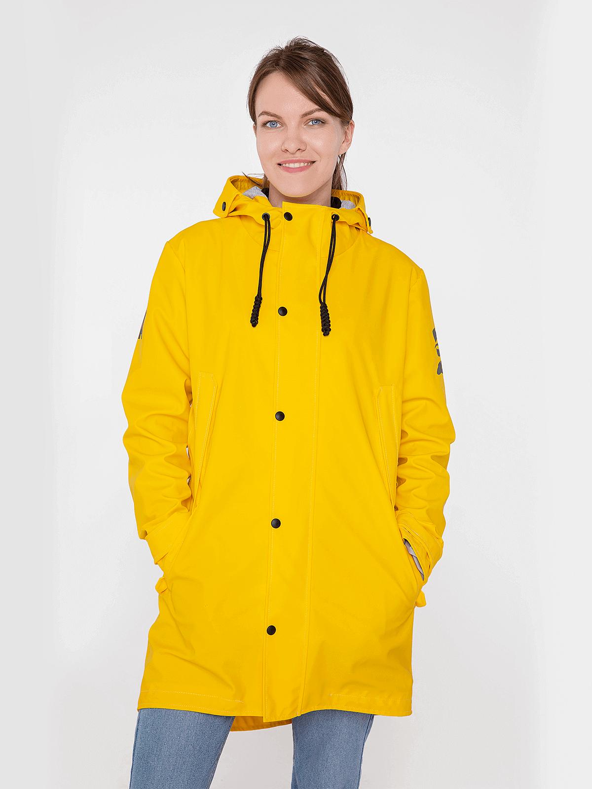 Жіночий Дощовик From Lviv With Rain. Колір жовтий. Зовнішній матеріал: основна - поліефір 100%, покриття - ПВХ-100%, водонепроникність 1500 г/м2/24 год, стійкий до ультрафіолету, зносостійкий.