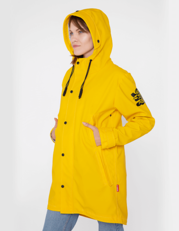 Women's Raincoat From Lviv With Rain. Color yellow. The color shades on your screen may differ from the original color.