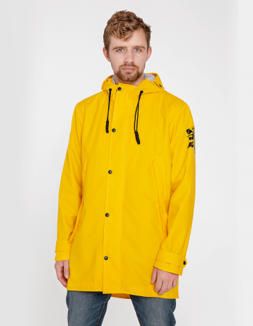 Men's Raincoat From Lviv With Rain. Color yellow. The color shades on your screen may differ from the original color.