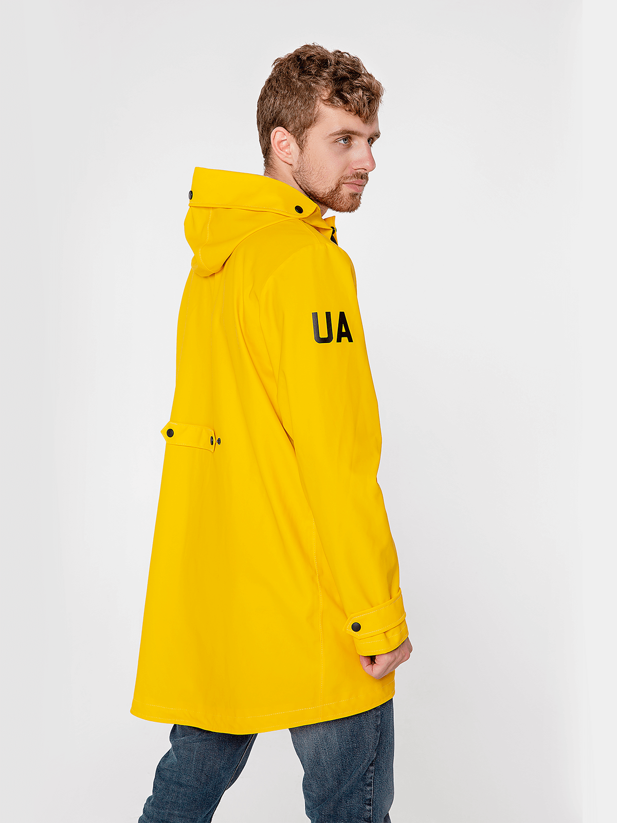 Men's Raincoat From Lviv With Rain. Color yellow. 2.