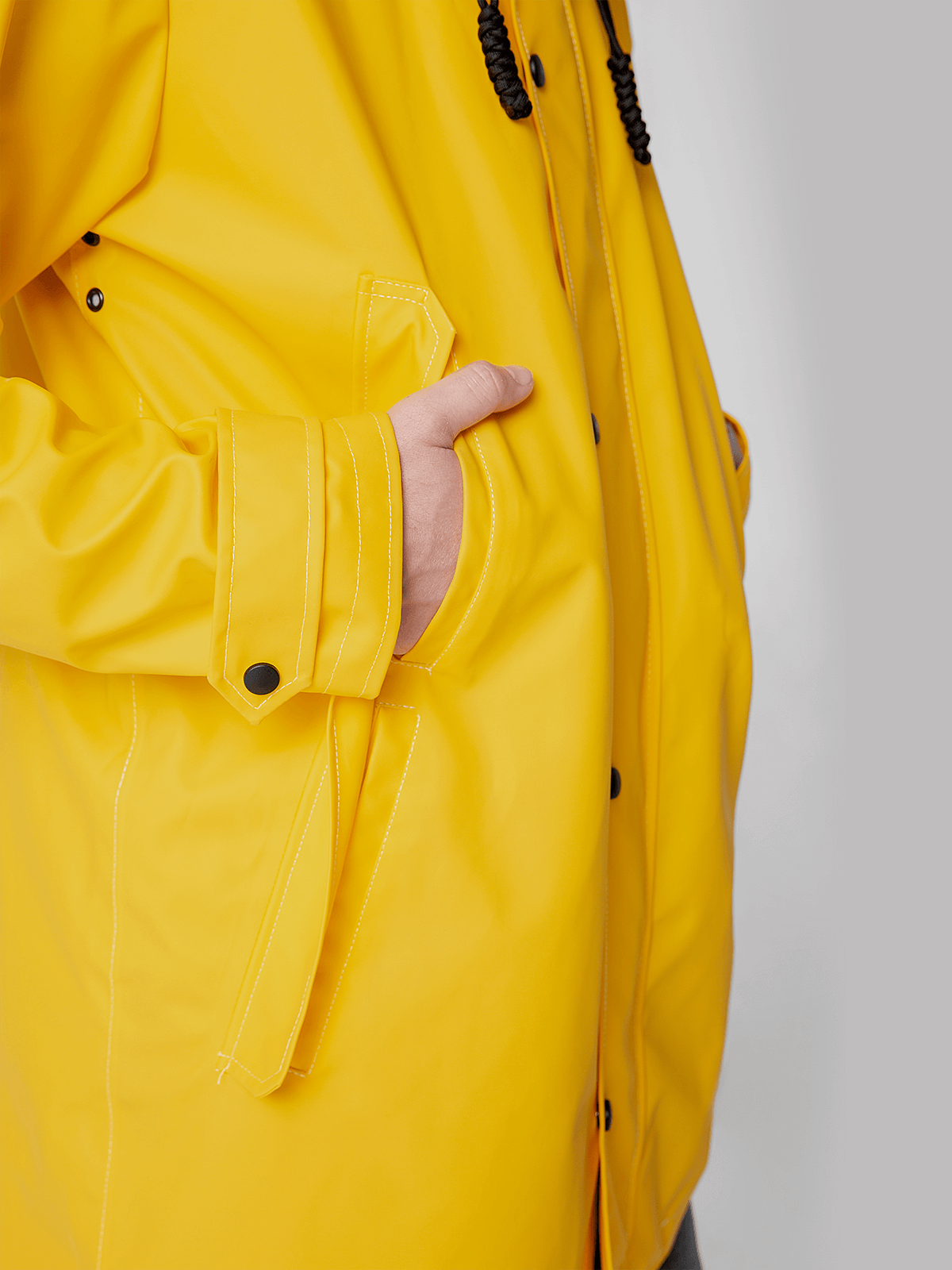 Men's Raincoat From Lviv With Rain. Color yellow. 3.