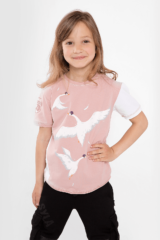 Kids T-Shirt Geese. T-shirt: girl's.