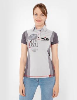 Women's Polo Shirt 114 Brigade (Mig-29). Color gray. Тканина піке: 100% бавовна.