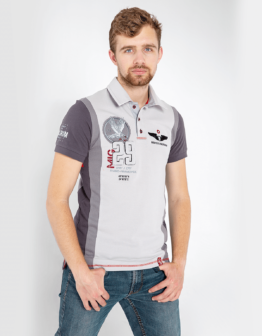 Men's Polo Shirt 114 Brigade (Mig-29). Color gray. Тканина піке: 100% бавовна.