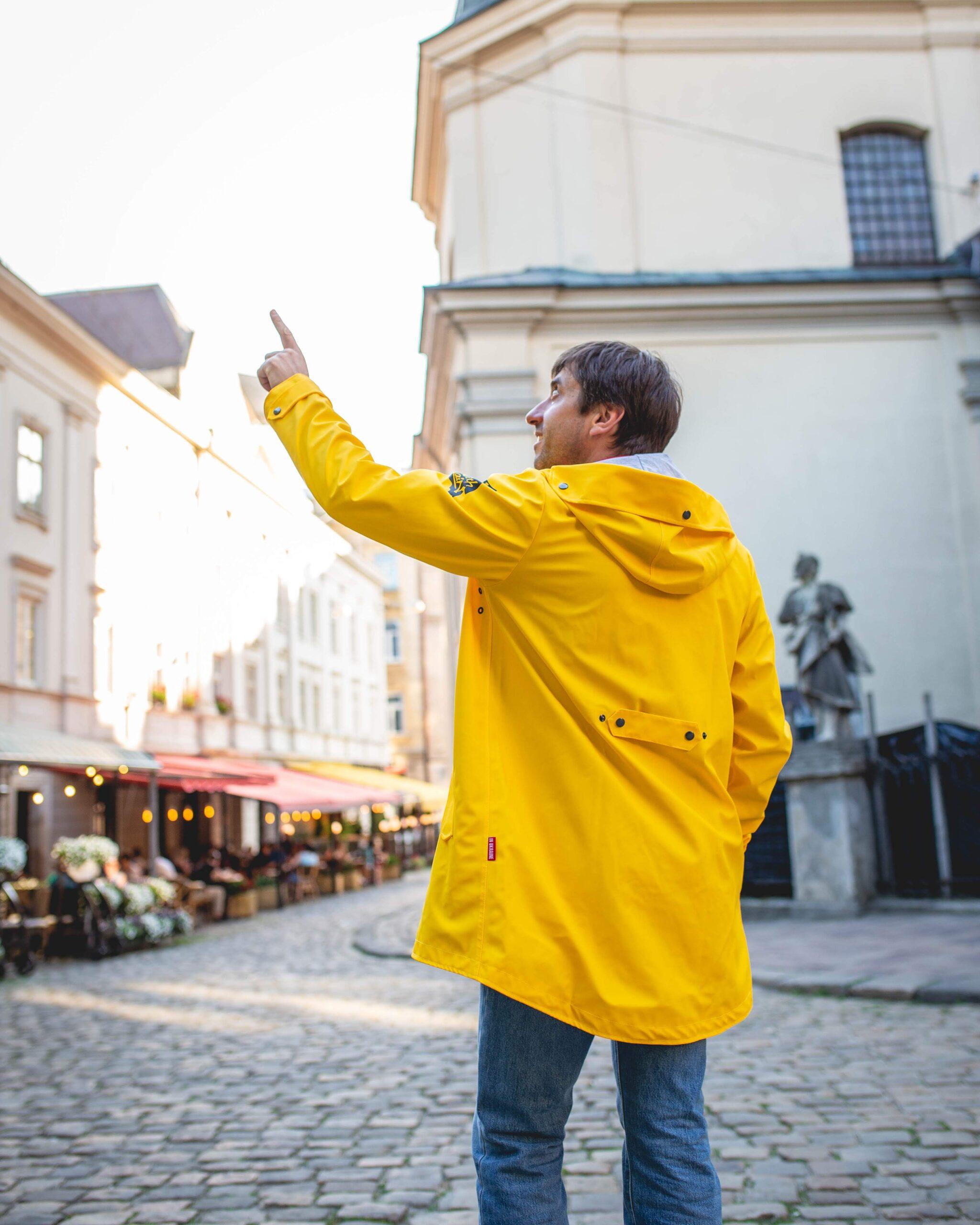 Чоловічий Дощовик From Lviv With Rain. Колір жовтий. .