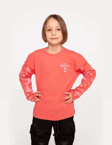 Дитячий Лонґ-Слів Ластівка. Колір рожевий. Матеріал: 95% бавовна, 5% спандекс.