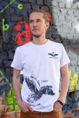 Men's T-Shirt Hedgehog. Unisex T-shirt (men's sizes).