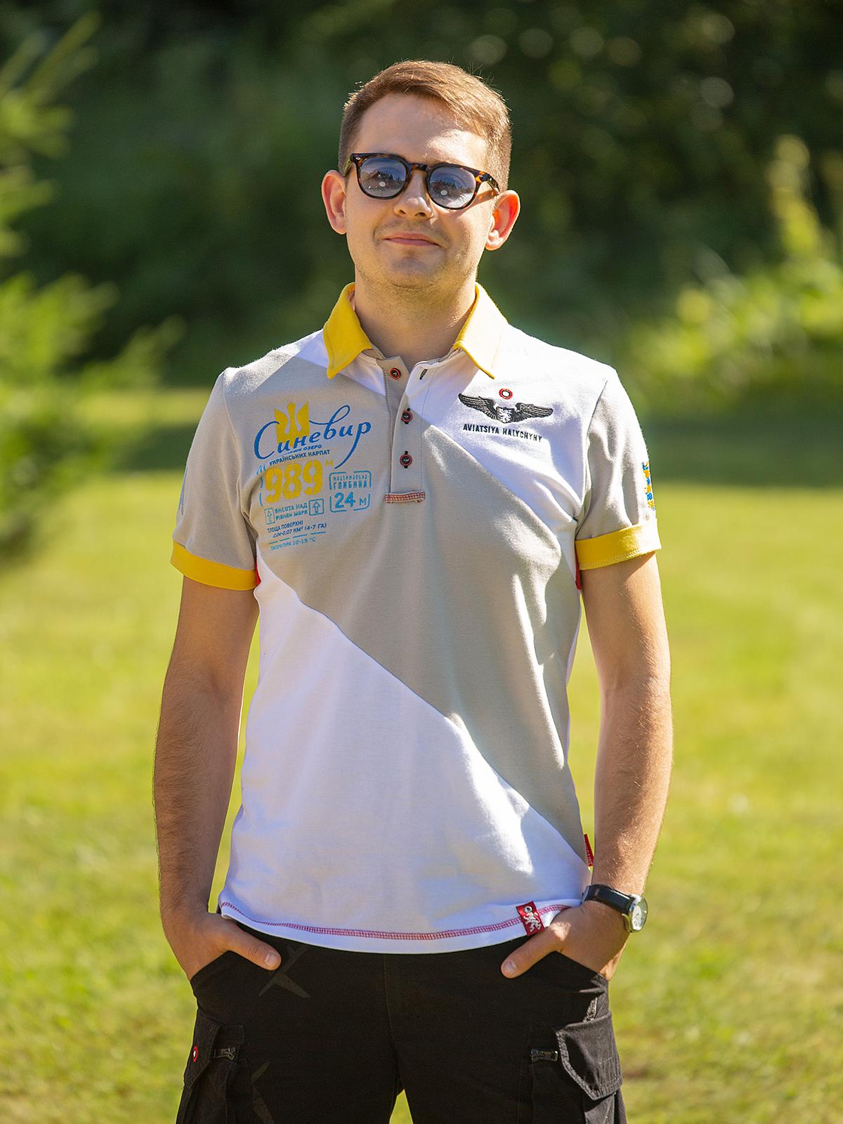 Men's Polo Shirt Synevyr. Color white. .