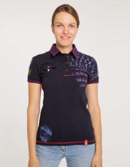 Women's Polo Shirt Balloon. Color dark blue. 1.