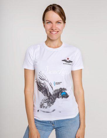 Women's T-Shirt Hedgehog. Color white. Unisex T-shirt (men's sizes).