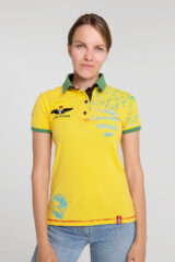 Women's Polo Shirt Balloon. Pique fabric: 100% cotton.
