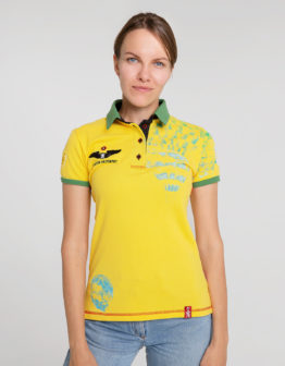 Women's Polo Shirt Balloon. Color yellow. .