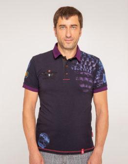 Men's Polo Shirt Balloon. Color dark blue. 1.