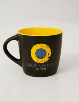 Cup Uaf. Color yellow. Керамічне горнятко.