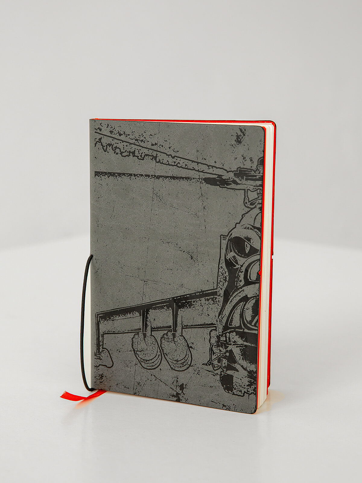 Notebook Helicopter. Color gray. .