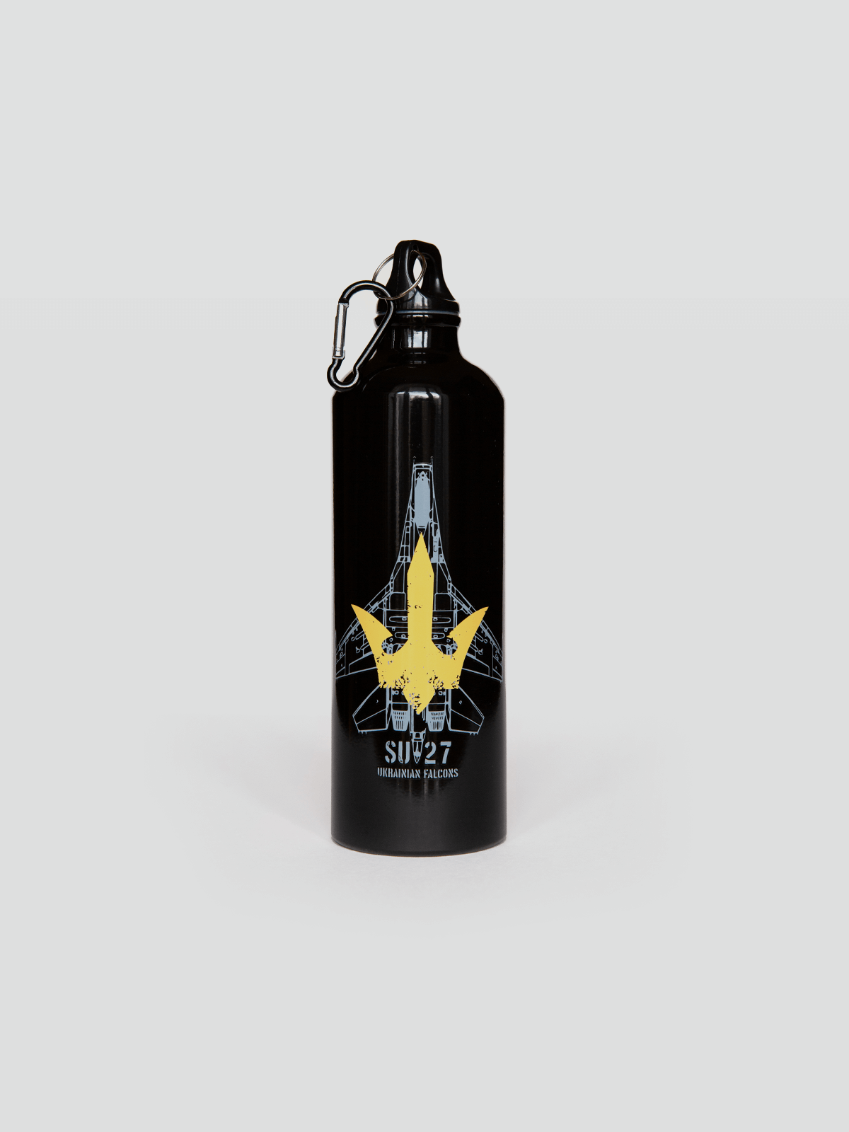 Flask Su-27. Color black. Volume: 800 ml Material: metal  Wash the flask from the inside before using; ● Image applying technique — cold decal.