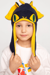 Kids Hat Dragon. Hat: unisex, well suited for both boys and girls.