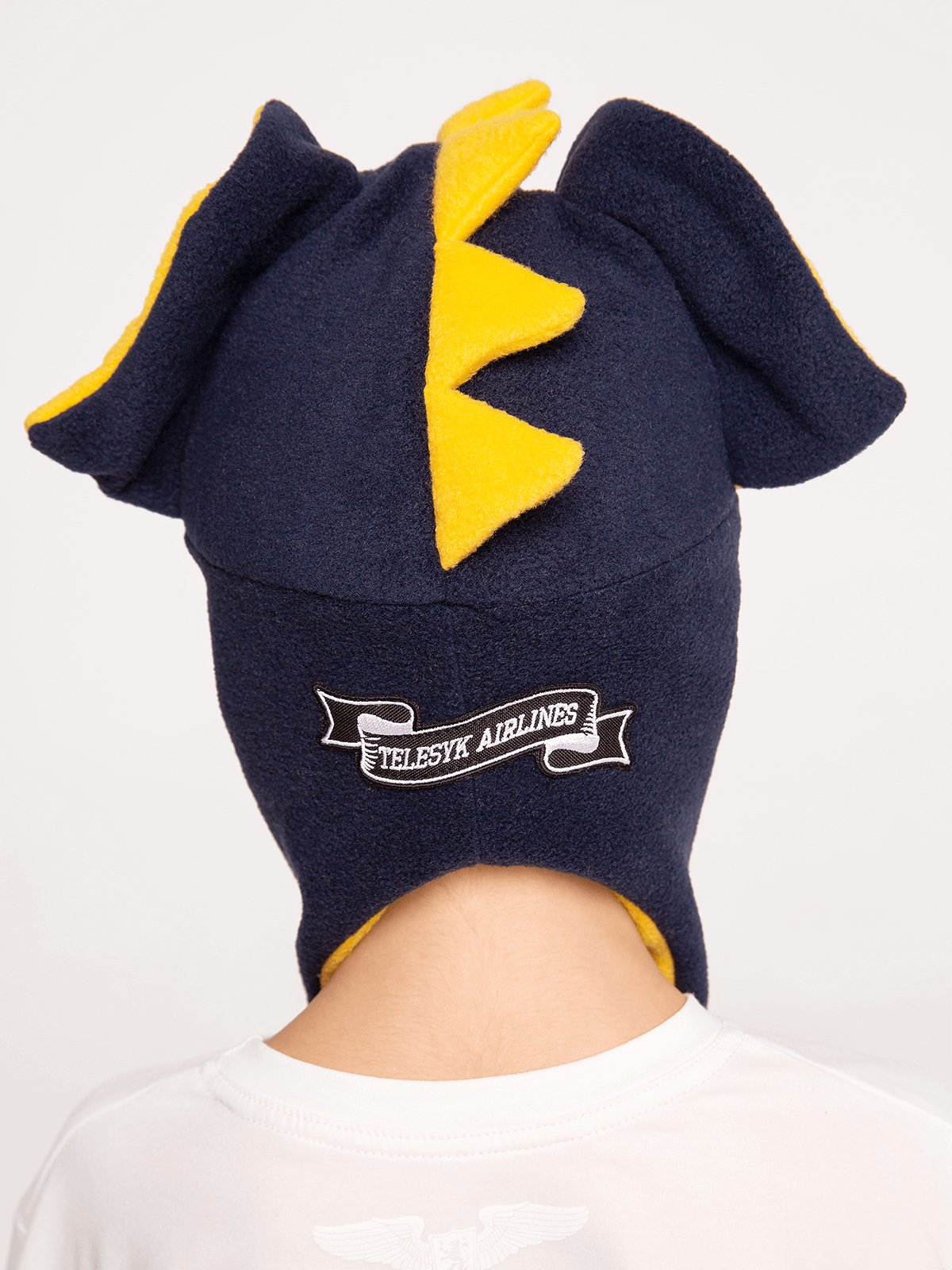 Kids Hat Dragon. Color navy blue.  The color shades on your screen may differ from the original color.
