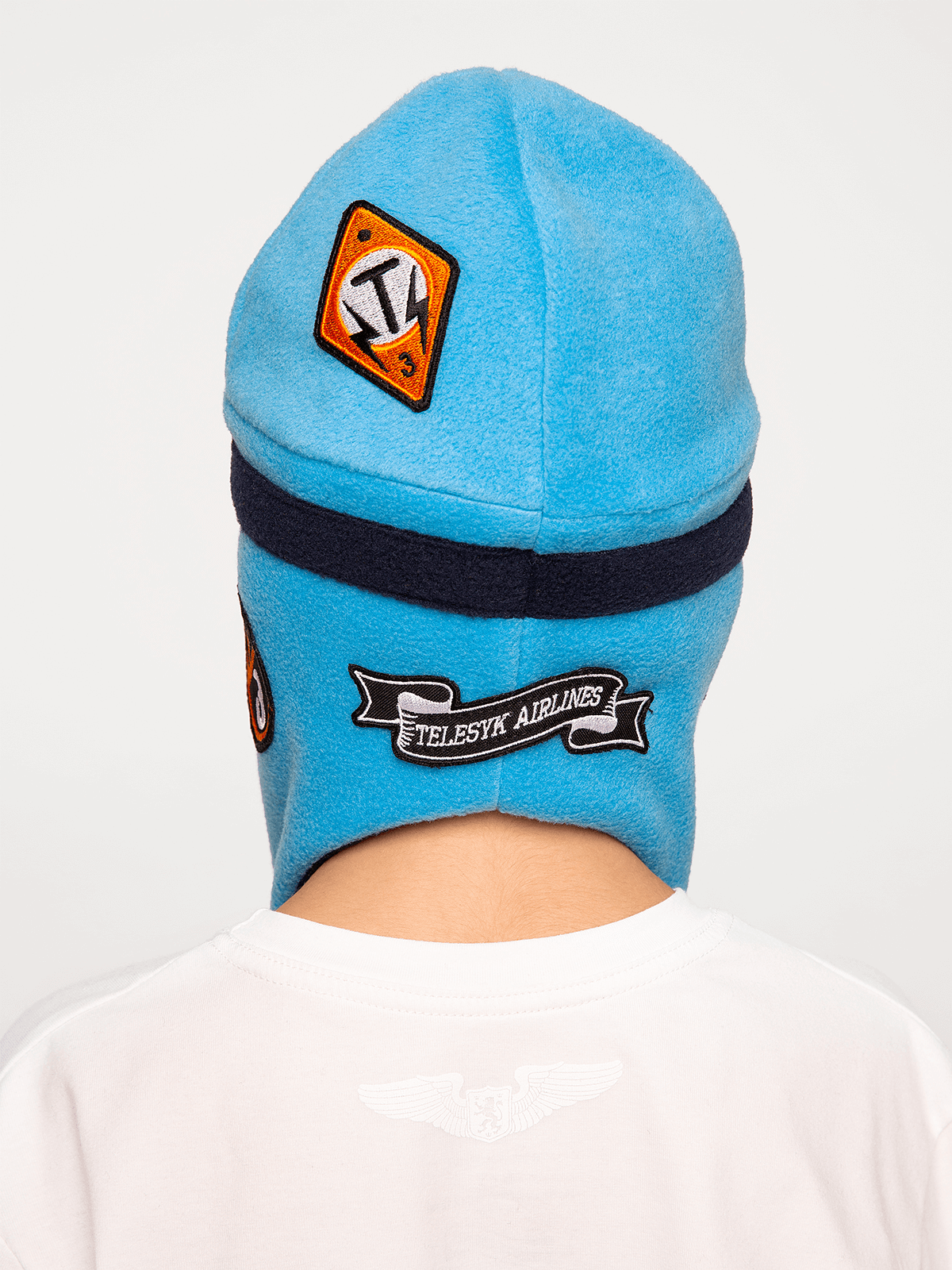 Kids Hat Pilot. Color sky blue. 5.