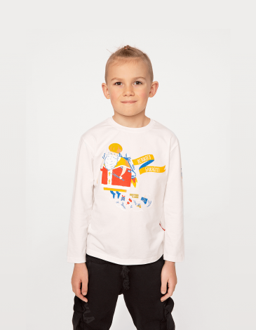 Kids Long Sleeves Kids Long Sleeves Mykolay. Color off-white. Long sleeve: unisex, well suited for both boys and girls.
