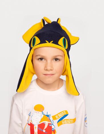 Дитяча Шапка Дракон. Колір синій. Шапка: унісекс, пасує і дівчаткам, і хлопцям.