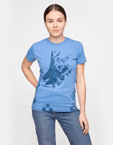 Women's T-Shirt 831 Brigade. Color sky blue. Unisex T-shirt (men's sizes).