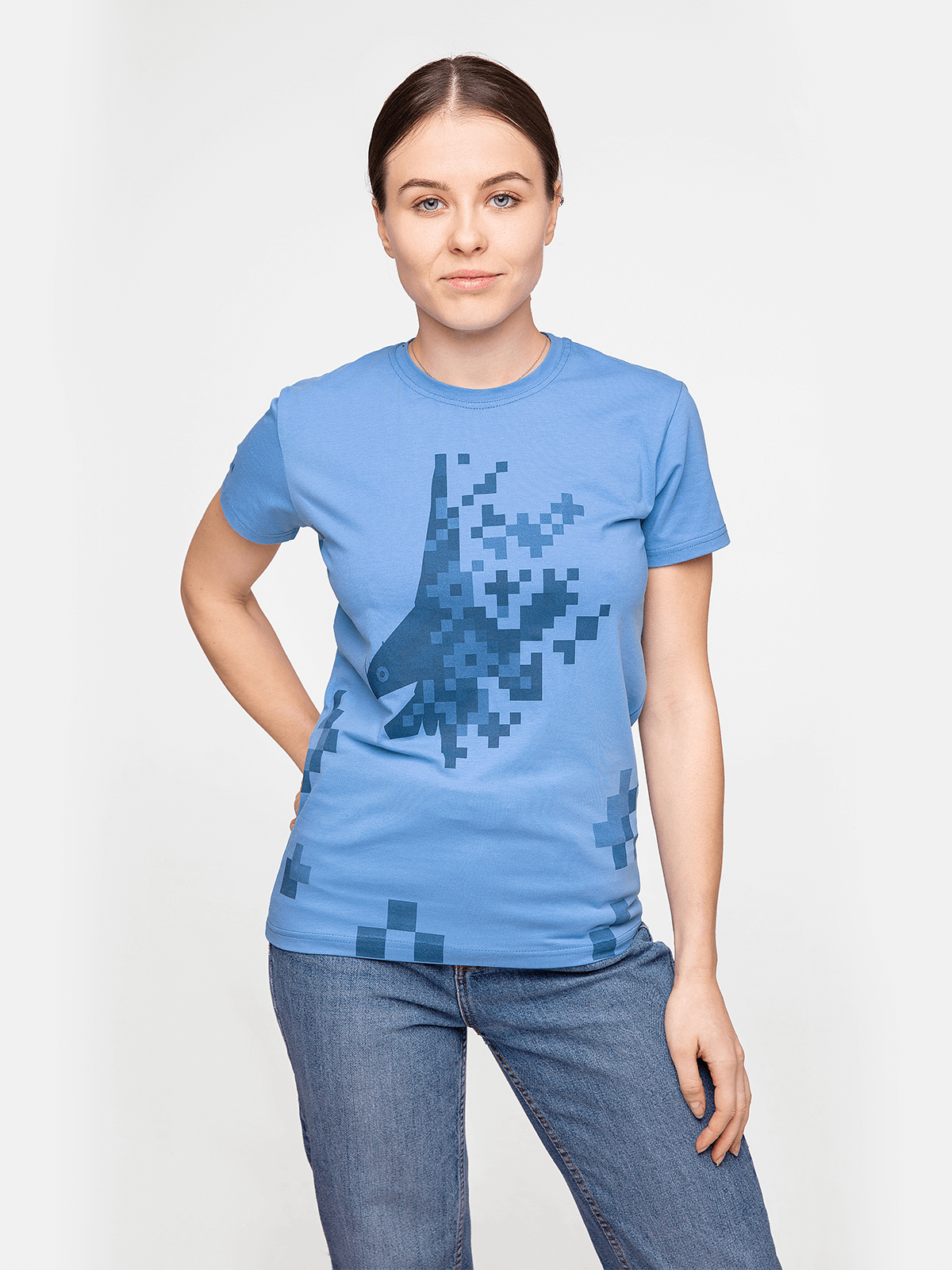 Жіноча Футболка 831 Бригада. Колір блакитний. Футболкаунісекс(розміри чоловічі).