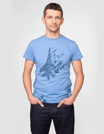 Чоловіча Футболка 831 Бригада. Колір блакитний. Футболкаунісекс(розміри чоловічі).