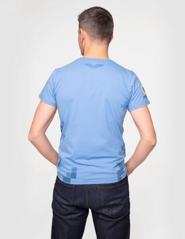 Men's T-Shirt 831 Brigade. Color sky blue. Unisex T-shirt (men's sizes).
