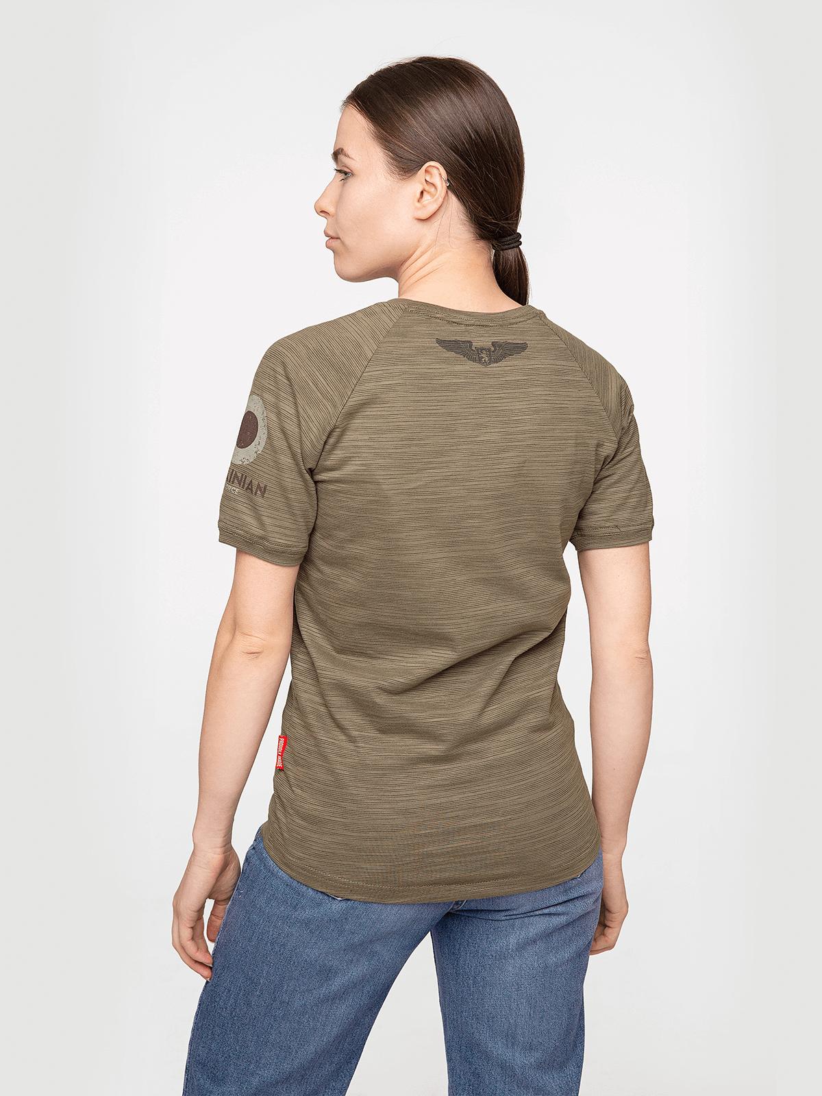 Жіноча Футболка Flanker. Колір хакі коричневий.  Матеріал: 95% бавовна, 5% спандекс.