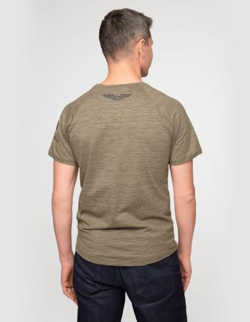 Men's T-Shirt Flanker. Color khaki brown. Unisex T-shirt (men's sizes).