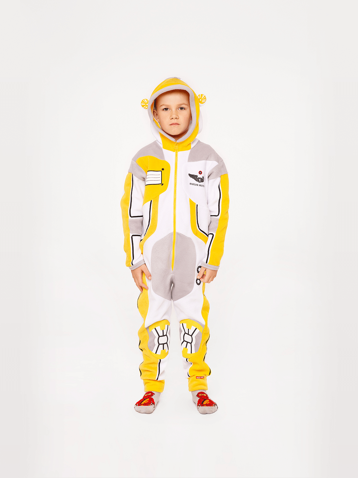 Pajamas Spacesuit. Color yellow.  The color shades on your screen may differ from the original color.