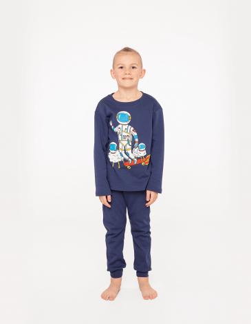 Дитяча Піжама Космічний Чабан. Колір синій. Матеріал: 100% бавовна.