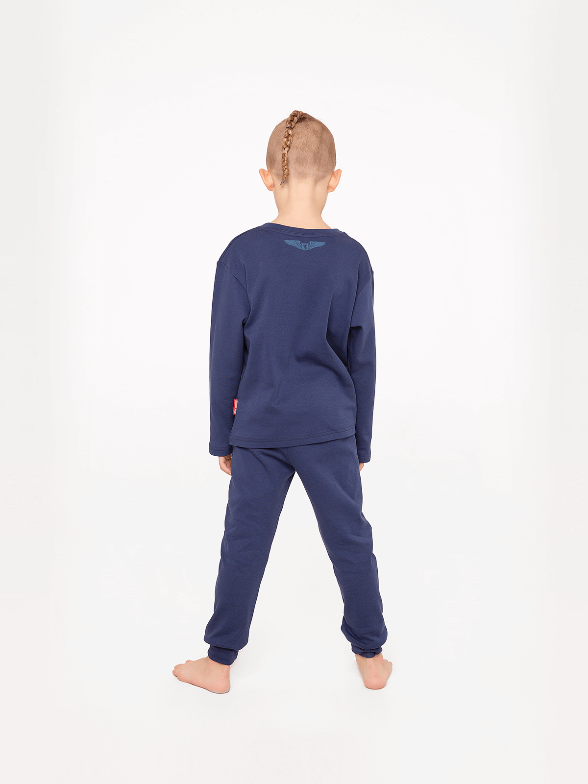 Kids Pajamas Space Shepherd. Color navy blue.  The color shades on your screen may differ from the original color.