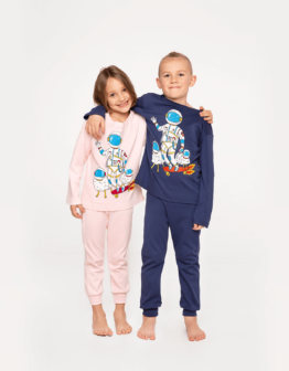 Kids Pajamas Space Shepherd. Color navy blue. Матеріал: 100% бавовна.