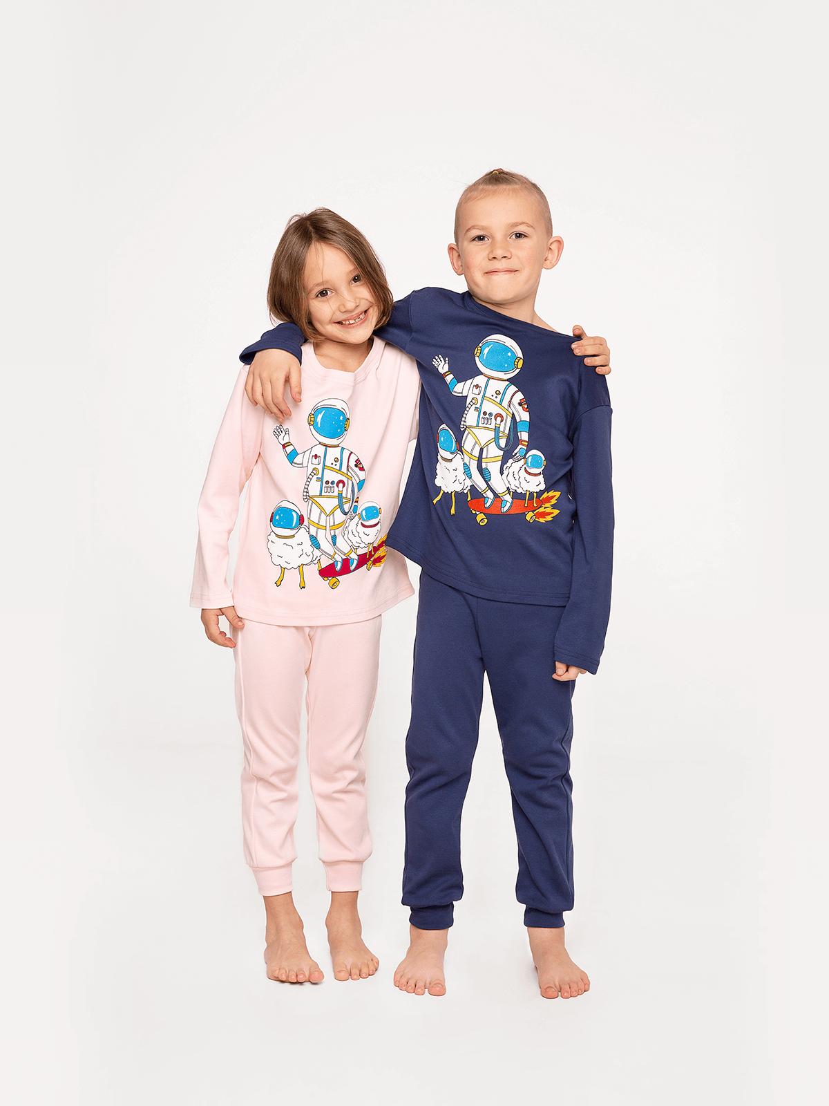 Kids Pajamas Space Shepherd. Color navy blue. Material: 100% cotton.