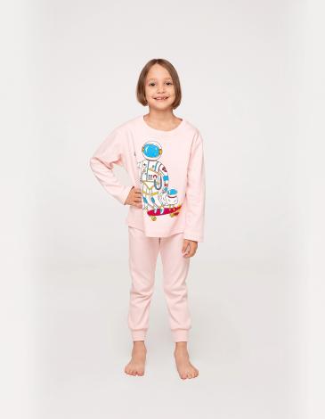 Дитяча Піжама Космічний Чабан. Колір світло-рожевий.  Технологія нанесення зображень: шовкодрук.
