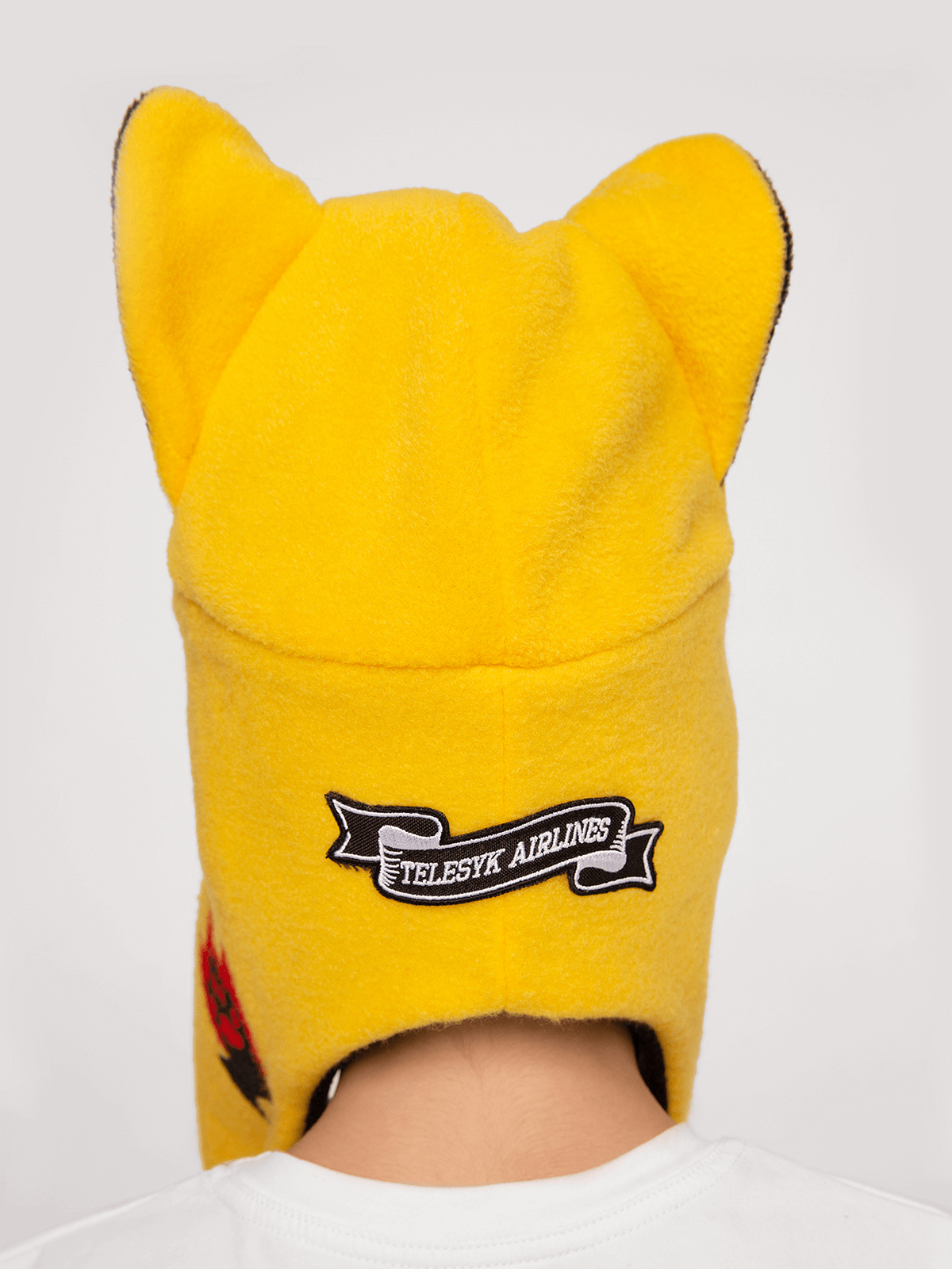 Kids Hat Wild Cat. Color yellow.  The color shades on your screen may differ from the original color.