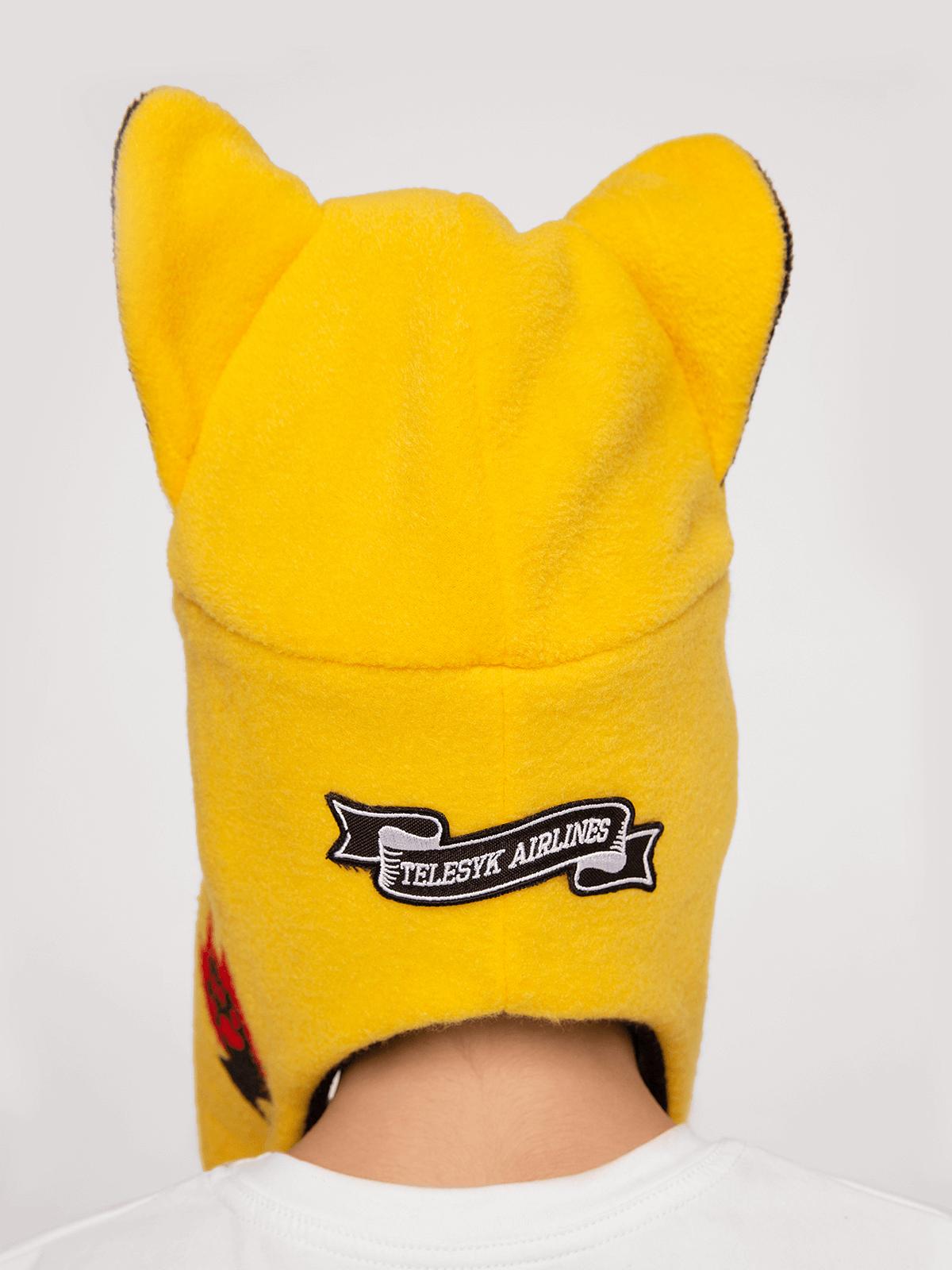 Дитяча Шапка Дикий Кіт. Колір жовтий. .