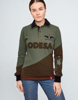Women's Polo Long Odesa. Color green. Поло-лонґ унісекс (розміри чоловічі).