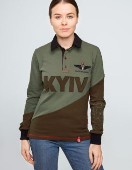 Women's Polo Long Kyiv. Color green.  Не варто переживати за універсальний розмір.