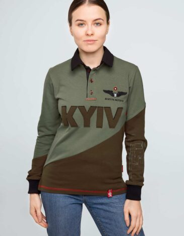 Women's Polo Long Kyiv. Color green.  Don't worry about the universal size.