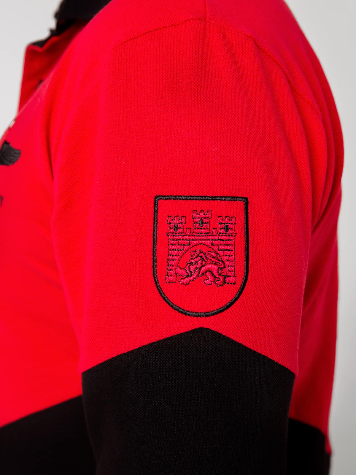 Men's Polo Long Lviv. Color red. 3.