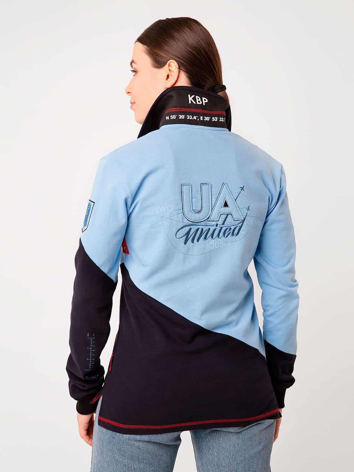 Women's Polo Long Kyiv. Color sky blue.  Don't worry about the universal size.