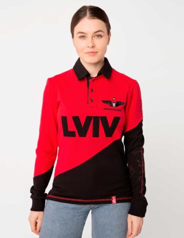 Women's Polo Long Lviv. Color red.  Don't worry about the universal size.