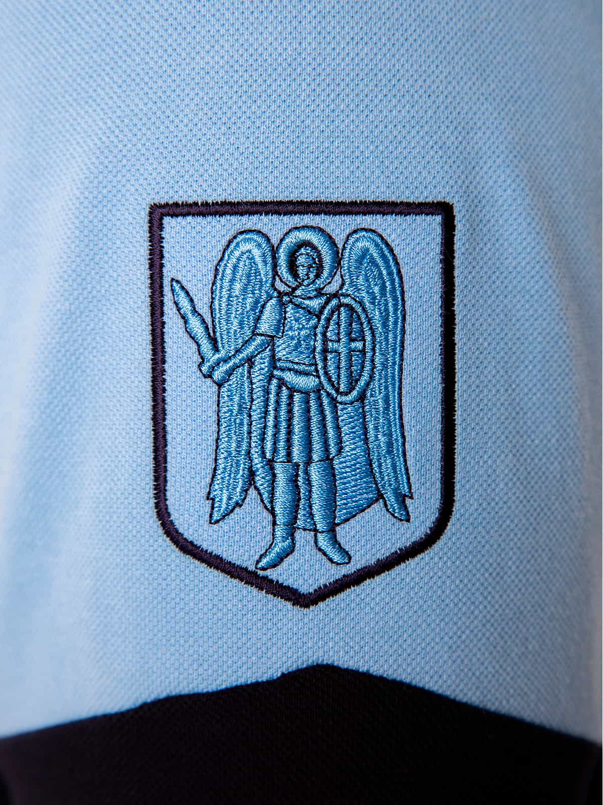 Men's Polo Long Kyiv. Color sky blue. 3.