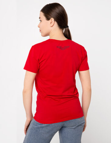 Жіноча Футболка Mars. Колір червоний. Футболкаунісекс(розміри чоловічі).